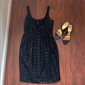 Black embellished Carmen Marc Valvo cocktail dress